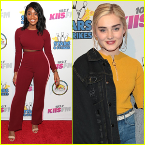 Normani & Meg Donnelly Step Out For 'Stars & Strikes' Event in LA