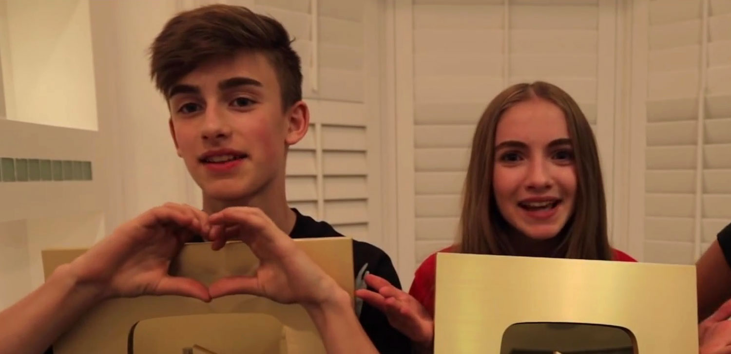 Johnny & Lauren Orlando Get Surprised With YouTube Gold