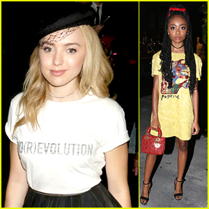 Peyton List & Skai Jackson Are Two Stylish Co-Stars at the Dior Addict Party