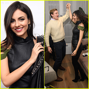 Victoria Justice Dances The Night Away at LMDM Grand Opening Party - Watch!