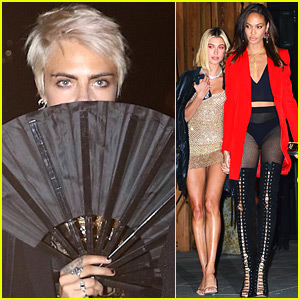 Cara Delevingne Joins Hailey Baldwin & Joan Smalls at Gigi Hadid's Birthday!