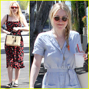 Dakota Fanning is Back in Los Angeles, Gets In Some Mother/Daughter Time