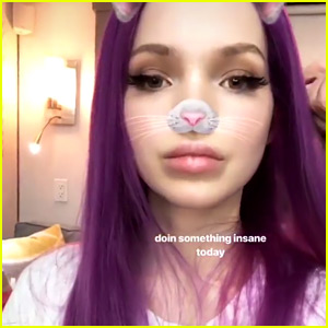 Dove Cameron Shows Off New Wig For 'Descendants 3'