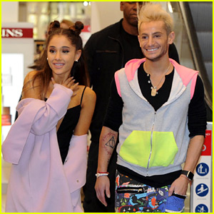 Frankie Grande Shows His Support For Sister Ariana's New Single With Similar Artwork