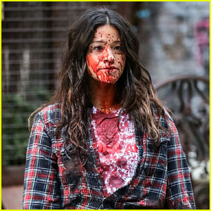Gina Rodriguez's 'Latina AF' Shirt Gets Soaked in Blood While Filming 'Someone Great!'