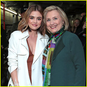 Lucy Hale Hangs Out With Hillary Clinton at Beautycon Festival NYC 2018!