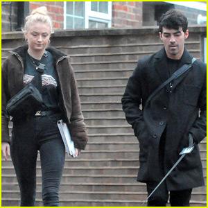Sophie Turner Walks Her Dog Porky with Fiance Joe Jonas!