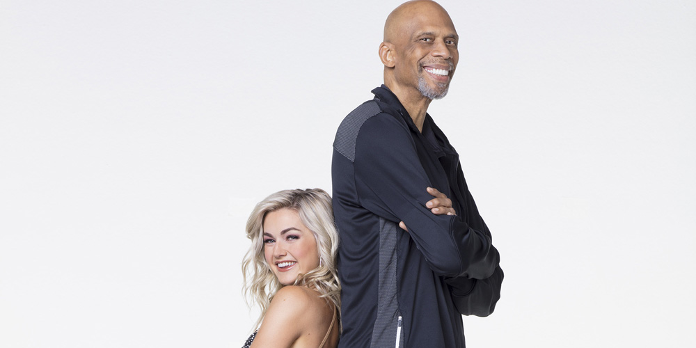 Dwts Champ Lindsay Arnold Talks About The Huge Height Difference Between Her Partner Kareem Abdul Jabbar Dancing With The Stars Lindsay Arnold Just Jared Jr