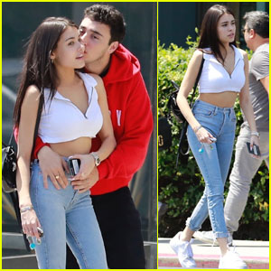 Madison Beer Gets a Kiss From Boyfriend Zack Bia During Lunch Date!