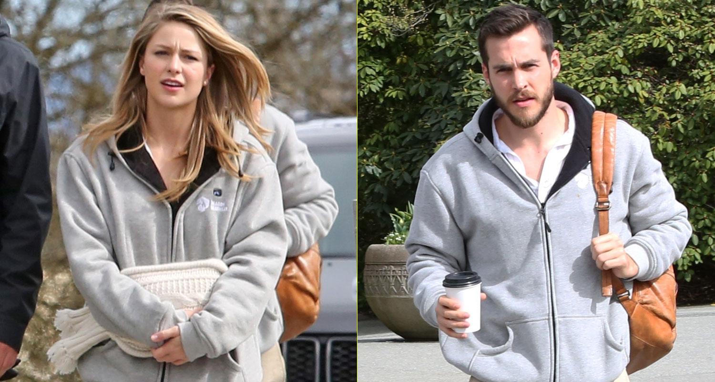 Melissa Benoist & Boyfriend Chris Wood Couple Up On