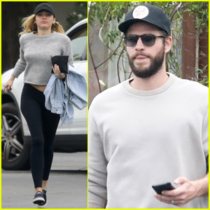 Miley Cyrus & Liam Hemsworth Wear Matching Outfits to Breakfast!