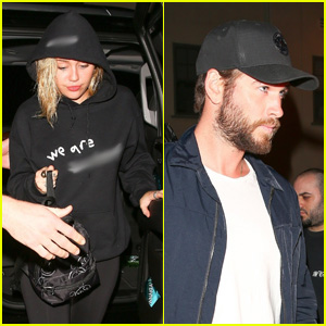Miley Cyrus & Liam Hemsworth Couple Up at the Noah Cyrus Concert!