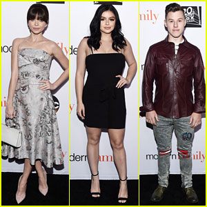 Sarah Hyland Rocks New Haircut With Ariel Winter & Nolan Gould at 'Modern Family' Event