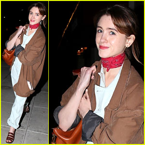 Natalia Dyer Looks Fierce in Red for Sushi Dinner With Male Friend