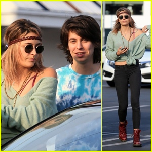 Paris Jackson Looks Fashionable While Grabbing Lunch With Friend Charlie Oldman!