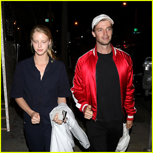 Patrick Schwarzenegger Heads to Dinner With His GF Abby Champion & His Mom!