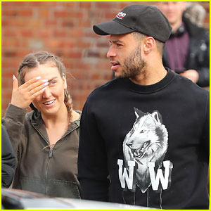 Perrie Edwards Steps Out Makeup Free With Boyfriend Alex Oxlade-Chamberlain