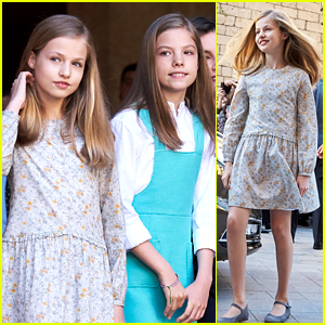 bb59be70936b Princesses Leonor   Sofia of Spain Attend Easter Mass in Palma de ...