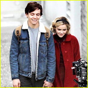 Ross Lynch & Kiernan Shipka Hold Hands While Filming 'Chilling Adventures of Sabrina'