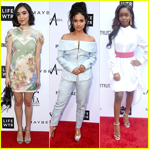Rowan Blanchard, Inanna Sarkis & Marsai Martin Step Out in Style for Fashion Los Angeles Awards 2018