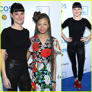 Storm Reid Joins Shailene Woodley at Lasting Legacy Gala Honoring Youth Leaders