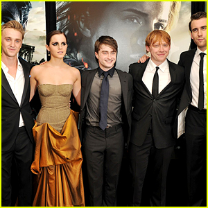 Tom Felton Reunites with 'Harry Potter' Co-Stars Emma Watson & Matthew Lewis!