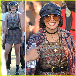 Vanessa Hudgens Shows Off Her Dance Moves at Coachella 2018!
