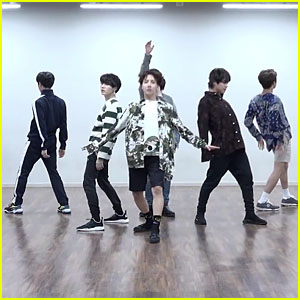 BTS Bust a Move in Choreography Practice Version of 'Fake