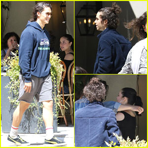 Booboo Stewart, Cameron Boyce, & Brenna D'Amico Meet Up for Brunch in Vancouver!