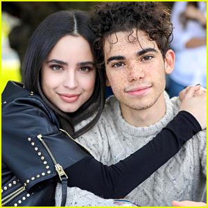 Cameron Boyce Wears Sofia Carson's Fave Red Coat at 'Descendants 3' Dinner