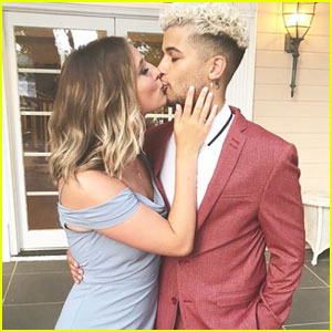 Jordan Fisher & Girlfriend Ellie Woods Couple Up at Their Friend's Wedding!