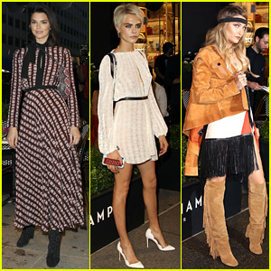 Cara Delevingne & Paris Jackson Hang Out with Kendall Jenner in NYC!