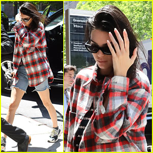Kendall Jenner is Pretty in Plaid While Stepping Out in the Big Apple