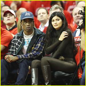 Kylie Jenner & BF Travis Scott Attend the Rockets Game in Houston!