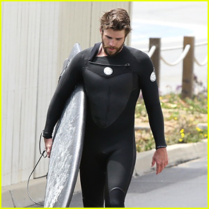Liam Hemsworth Catches Waves With Friends at the Beach in Malibu!