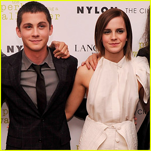 Logan Lerman Is Still Inspired by Former Co-Star Emma Watson All The Time
