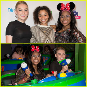 Meg Donnelly Has a Blast With the 'Zombies' Cast at Disneyland!