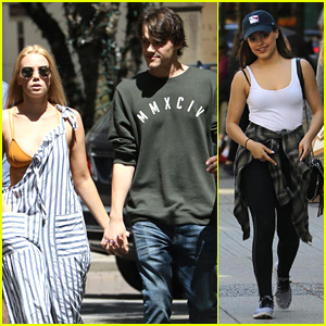 Mitchell Hope & Girlfriend Tayla Audrey Hang With Sarah Jeffery in Vancouver
