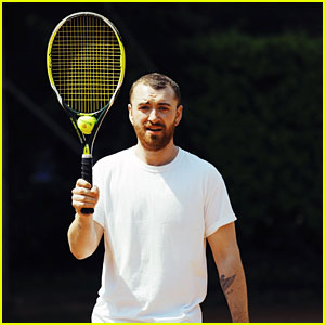 Sam Smith Looks Happy While Recharging & Writing Music!