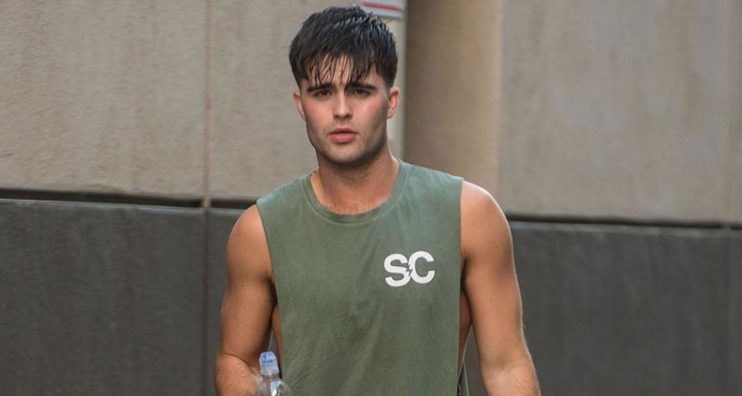 Spencer Boldman Shows Off His Muscles While Hitting The Gym