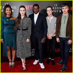 Katherine Langford & Dylan Minnette Join '13 Reasons Why Cast' For Netflix Event