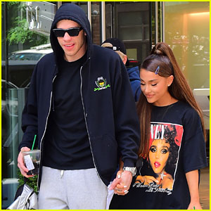 Ariana Grande Enjoys a Pre-Birthday Lunch with Pete Davidson