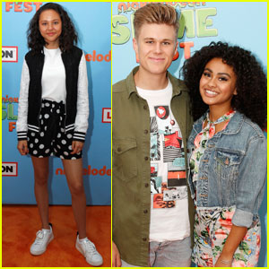 Breanna Yde Joins Daniella Perkins & Owen Joyner at Nickelodeon SlimeFest!