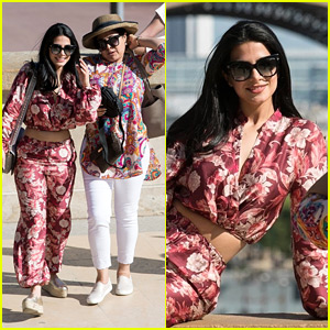 Emeraude Toubia Goes Sightseeing in Paris With Her Mom After 'Shadowhunters' Convention