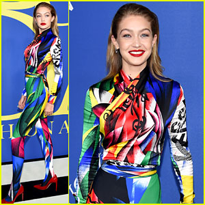 Gigi Hadid Wins Our Award for Most Colorful at CFDA Fashion Awards 2018!