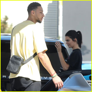 Kendall Jenner & Ben Simmons Fill Up Their Cars at a Gas Station