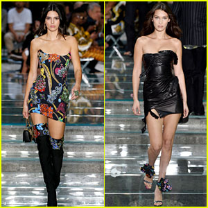 Kendall Jenner & Bella Hadid Look So Fierce on Versace's Runway!