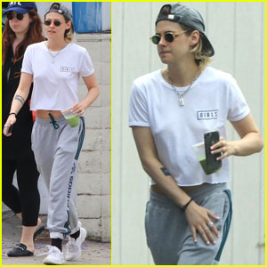 Kristen Stewart Kicks Off Her Day With Friends!