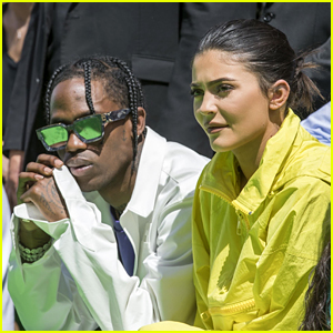 Kylie Jenner & Travis Scott Sit Front Row at the Louis Vuitton Show in France!