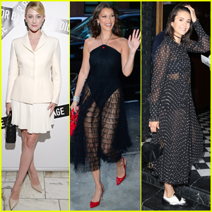 Lili Reinhart Joins Bella Hadid & Nina Dobrev at Dior Fashion Event!